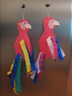 Macaw / Parrots craft (for rainforest unit)
