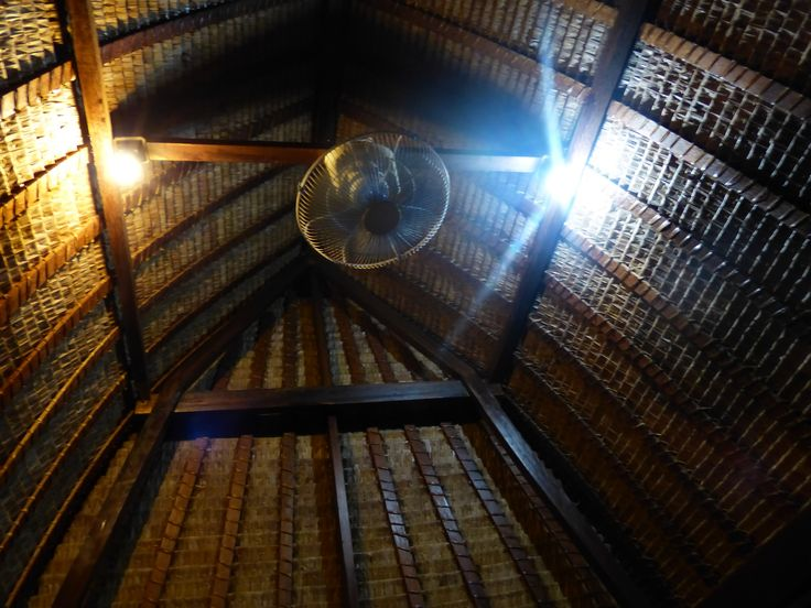 The roof of BALE BENGONG made from dry coconut leaf and very strong. Will reduce the heat in the day time while you sitting in this building.