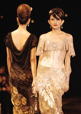 Kebaya with stunning back.
