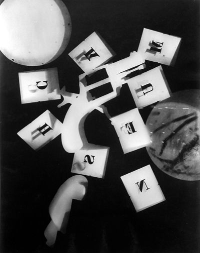 Man Ray - Photography - Surrealism - Gun with Alphabet Stencils
