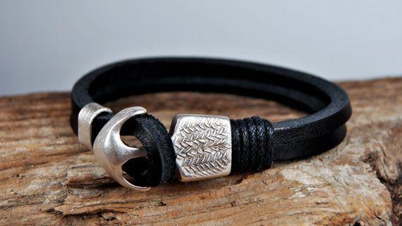FREE SHIPPING  Men bracelet leather men bracelet by FosforStore, $26.00