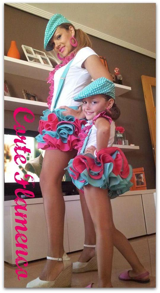 CORTE FLAMENCO: flamenca niña