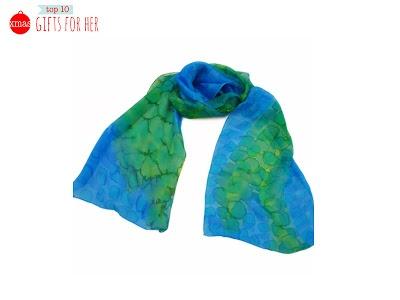 Hand painted 100% silk scarf by Julie Gardner
