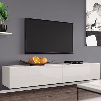 Fernsehschrank TV Board Rack Lowboard Hängeschrank Hängend Hochglanz Matt