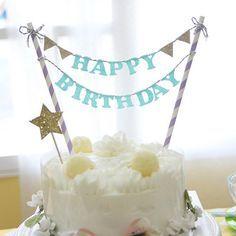 【ミント】バースデー ケーキ バンティング もう数字のろうそくは飽きたよねっpart3可愛いケーキオーナメントパーティ ガーランド オーナメント バースデー キッズ ケーキ 旗 パーティーグッズ 雑貨 バンティング ピクニック|ROOM