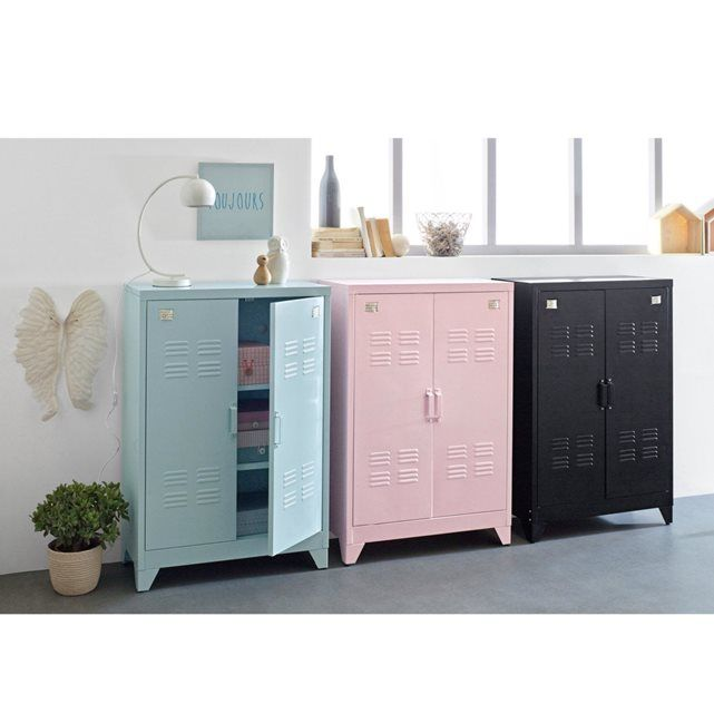 armoire vestiaire metal special soupente hiba deco industrielle pinterest armoire vestiaire et mobilier de salon