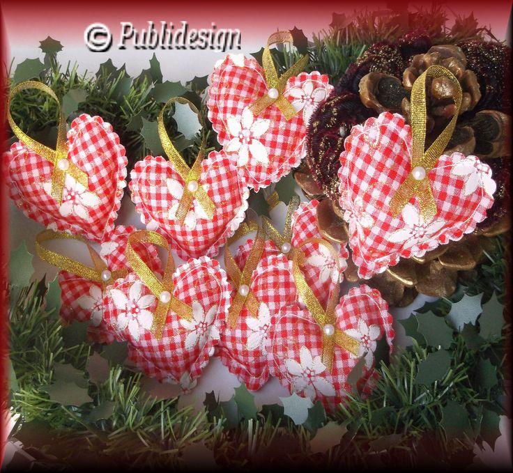 Coussins coeur en tissu motif vichy organza (2p) : Accessoires de maison par orkan28