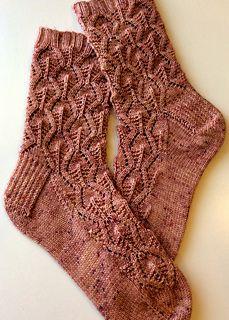 Celosia Socks pattern by verybusymonkey