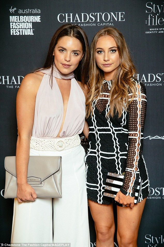 On-screen pals: Olympia, the younger sister of Holly Valance, posed up a storm as she join...