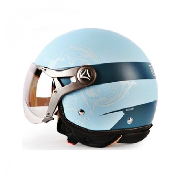 ECE Motorcycle Half Helmet Male and Female UV Safety Helmets for BEON