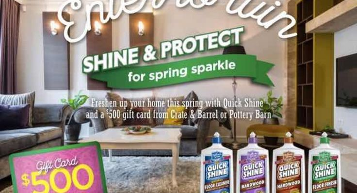 Win a $500 Crate & Barrel or Pottery Bard Gift Card