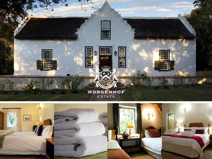Our Manor House has 5 en suite double rooms - Rooms include breakfast at Morgenhof coffee shop & wine tasting. Join us for an unforgettable stay on our beautiful estate. For more info visit: http://ow.ly/BDm1G