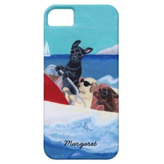Cool Summer Labradors Painting iPhone 5 Covers