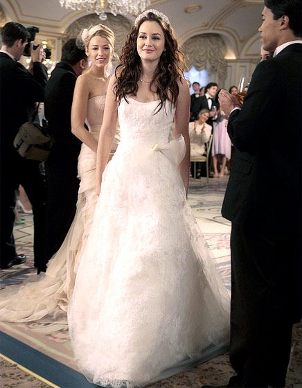 In Season 5 Blair Waldorf (Leighton Meester) slipped on a Vera Wang wedding gown.
