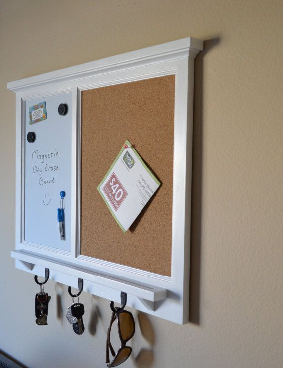 magnetic white board corkboard organizer by