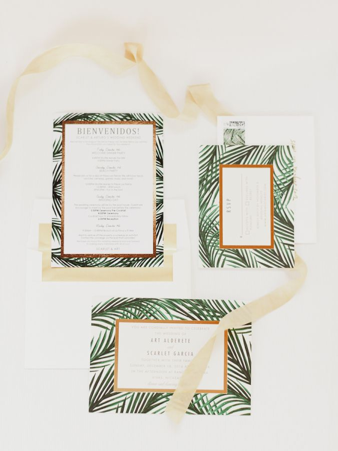 sister marriage invitation letter format%0A The Tropical Chic Destination Wedding of Our Dreams