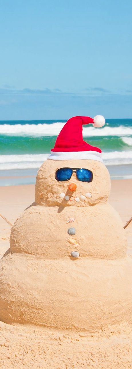 "The ""beach version"" of a snow man!"