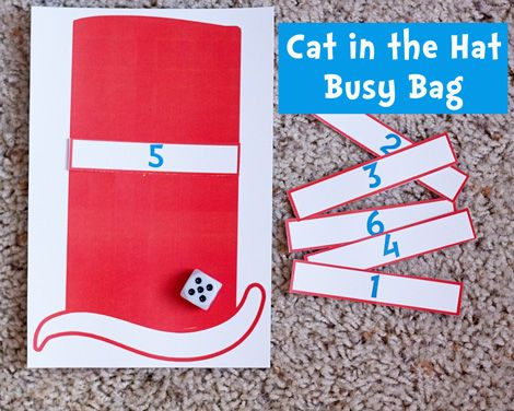 Cat in the Hat Busy Bag (two versions) free download at Second Story Window