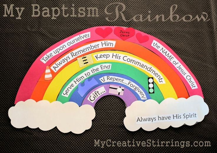 """This is a talk idea that I came up with for an LDS baptism talk I recently gave.  It is based on the LDS baptism song """"When I am Baptized""""."""
