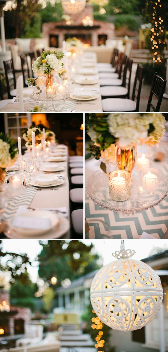 Shower Ideas, Beautiful Tables, Events, Baby Shower Dinner, Chevron Tables, Outdoor Parties, Baby Shower Recipe, Tables Runners, Table Runners