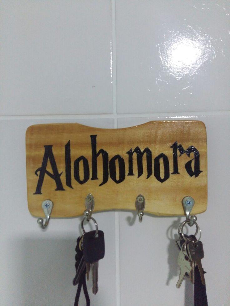 Porta chave ALOHOMORA, inspirado no mundo de Harry Potter