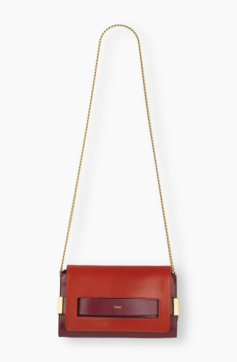 chloe elsie mini shoulder bag - small georgia bag in nappa lambskin \u0026amp; small grain calfskin