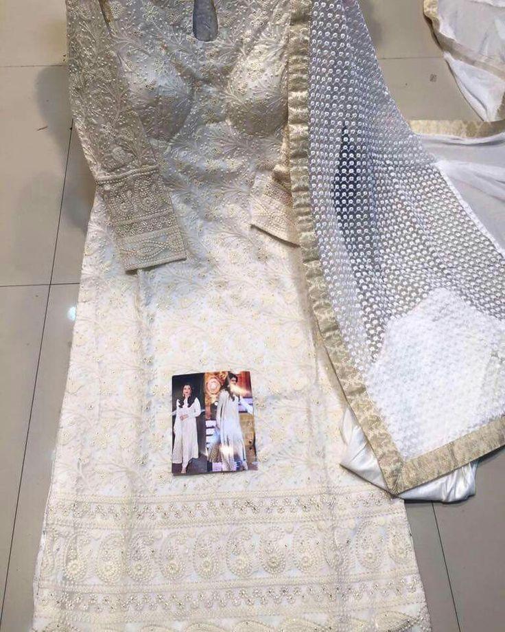 White long kameez suit
