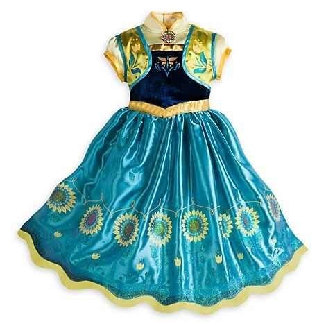 vestido fantasia anna frozen fever disney novo modelo 5/6
