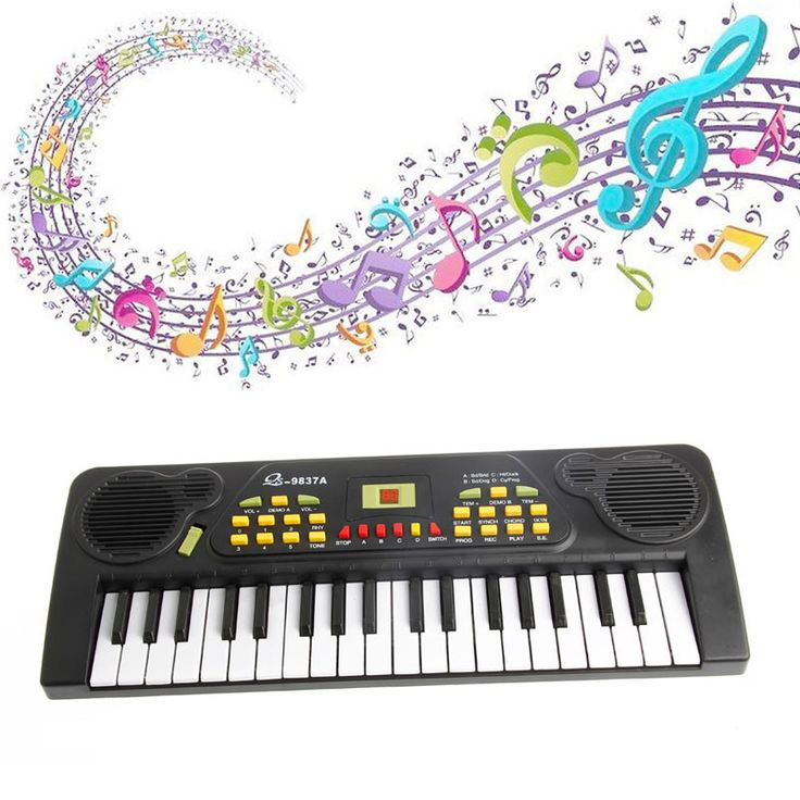 Electronic Music Keyboard Electric Toy+Mic Adapter