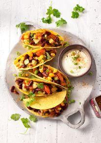 Taco's met bonensalade