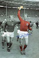 Signed Jack Charlton 12x8 England world cup 1966 photo