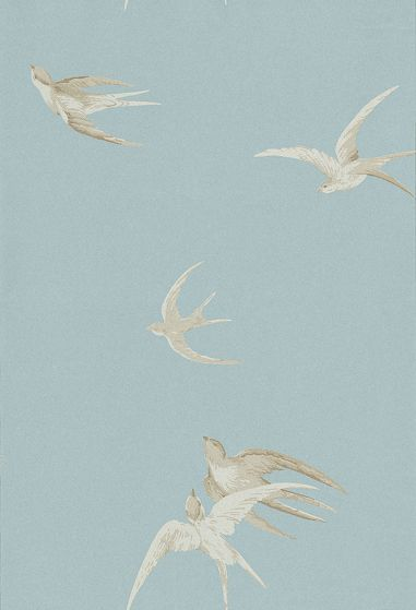 Swallows wallpaper by Sanderson