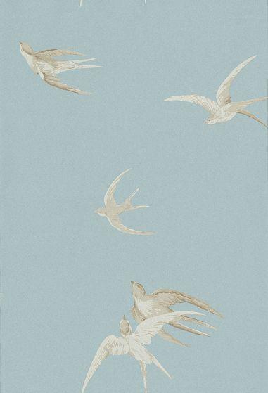Swallows wallpaper by Sanderson