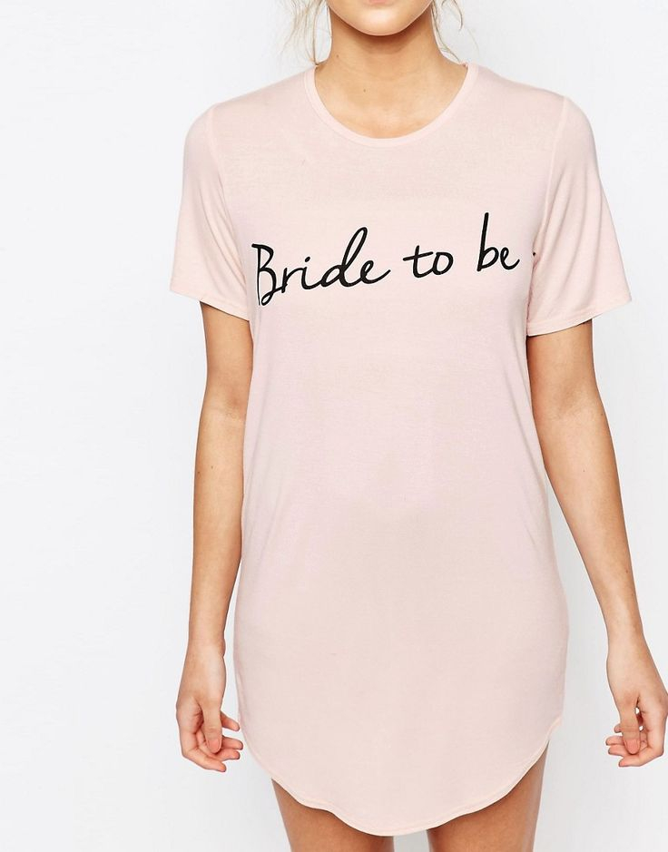 "Image 3 of Boohoo Bride To Be Slogan Nightie Instead say ""wifey"" or ""mrs Copeland"""