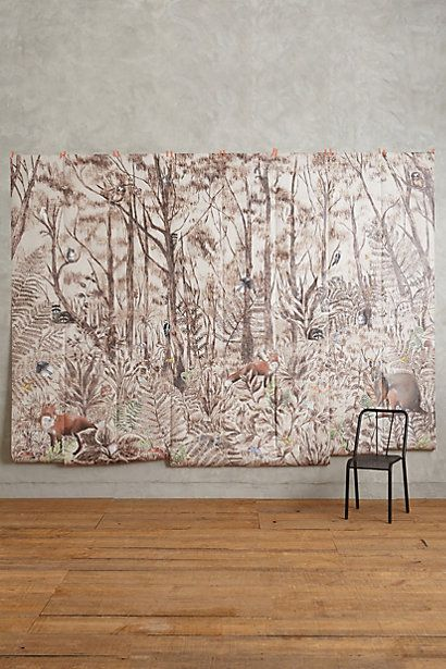 17 best images about suburban chic on pinterest for Anthropologie mural wallpaper