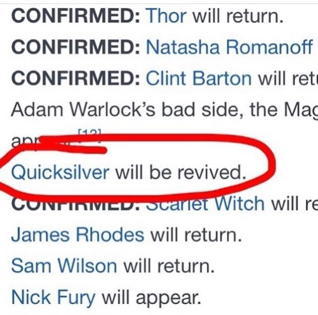 Ok I loved Quicksilver and am glad that he is coming back, BUT WHERE IS BUCKY?!?!?!?!?!?! <<<<good that
