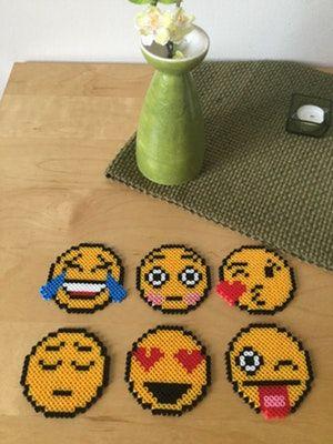 Emoticon coasters