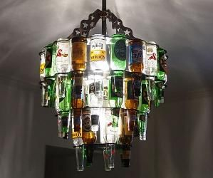 Beer Bottle Chandelier Kit... This would look cool on a patio or in a game room by nene67