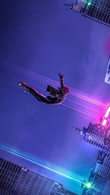 Spiderman Spiderverse movie iPhone Wallpaper