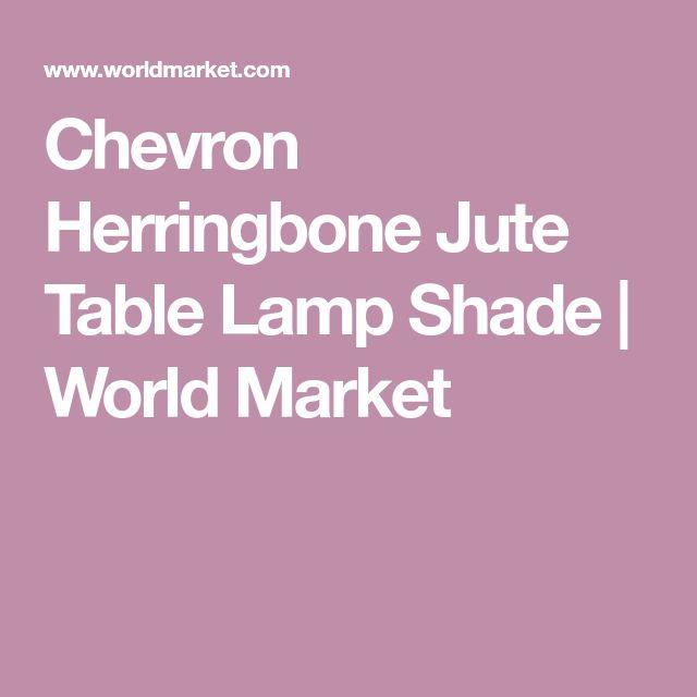 Chevron Herringbone Jute Table Lamp Shade | World Market