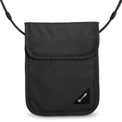 Pacsafe Coversafe X75 Anti-Theft RFID Blocking Neck Pouch Black 10148. Can't cut strap