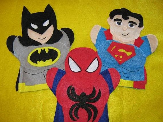 super hero puppets