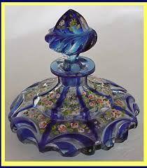 blue glass scent bottle