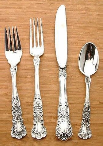 Sterling Silver Buttercup 4 Piece Old Style Flatware Set