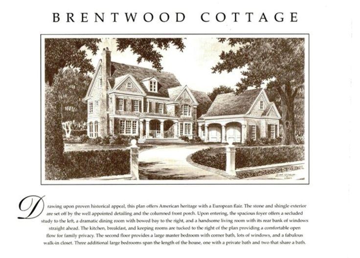 Brentwood Cottage House Plan; Spitzmiller & Norris | Kitchens ...