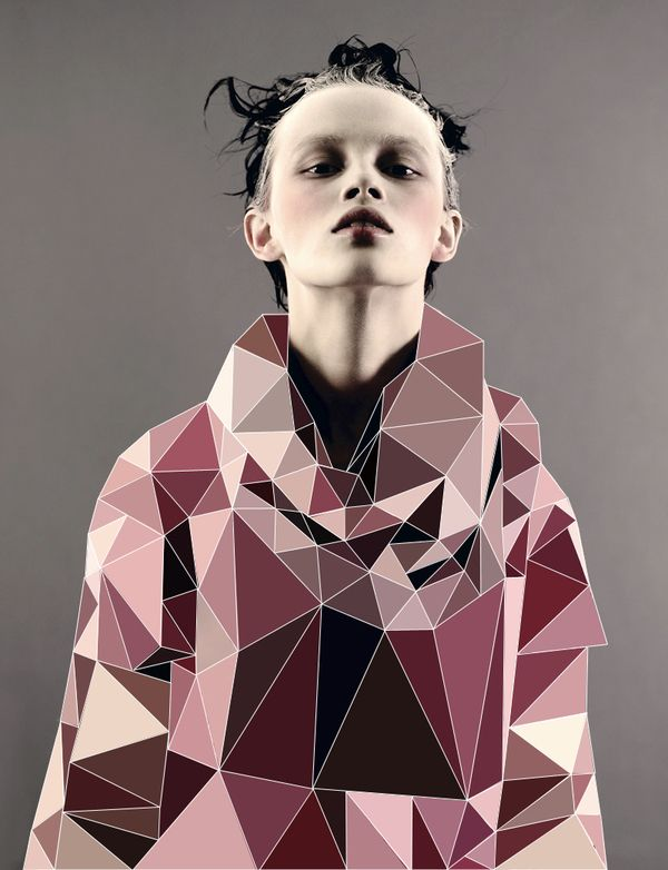 Fashion with Cubic Forms by elif yaman, via Behance