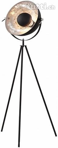 Design Stehlampe schwarz silber 140 cm LI330
