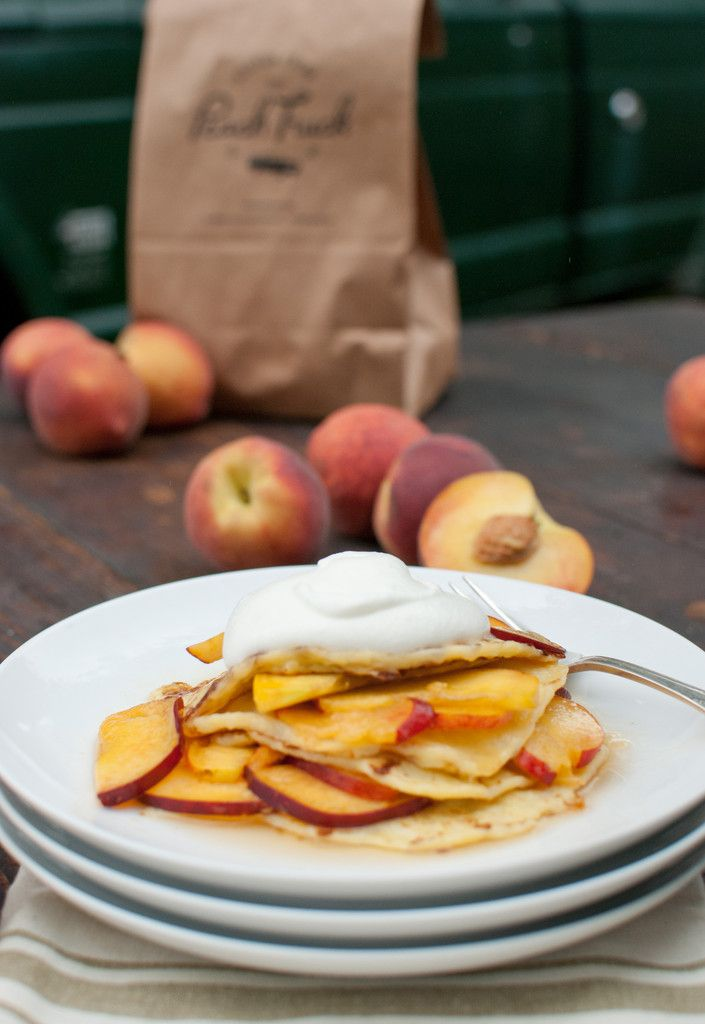 Gluten Free Peaches & Cream Cottage Cheese Pancakes via The Peach ...