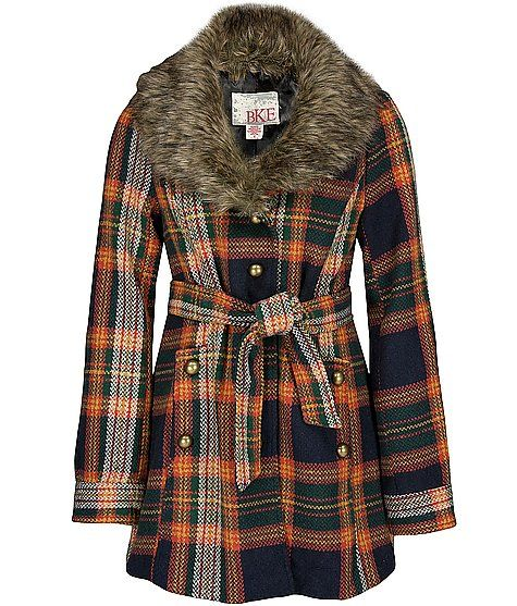 BKE Plaid Coat: Fall Season, Fall Colors, 70 S Plaid, Bke Plaid Coat, Plaid Coat Um, Women S Outerwear Jackets, Plaid Coat 56 92, Fur Collars