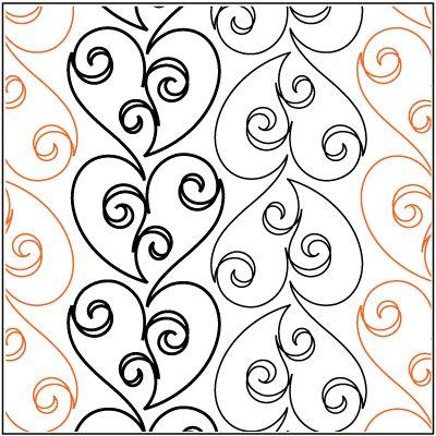 Love Doodle 4 Dense Edge To Edge Quilting Designs